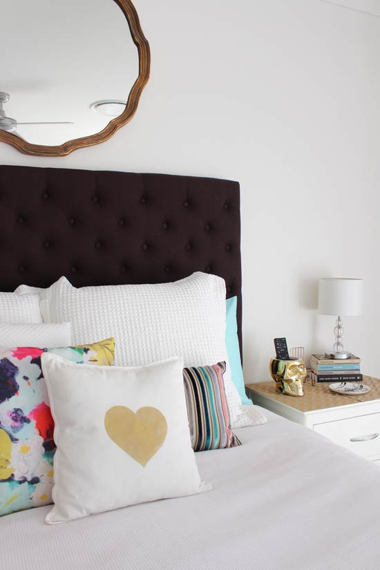 Pillow styling in bedrooms