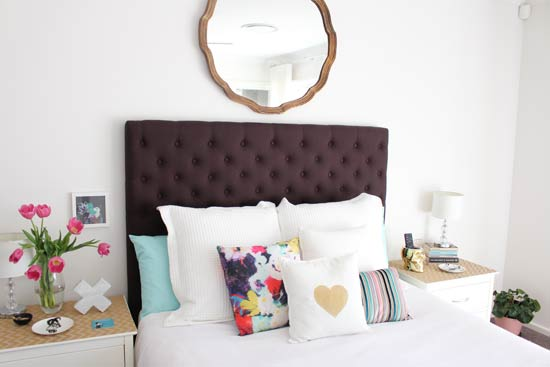 Bedroom cushion styling