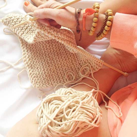 knitting styled shot