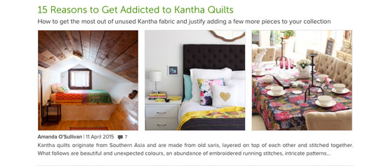 Houzz - Kantha Quilts
